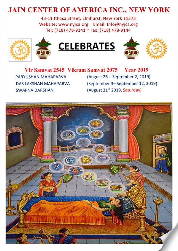 JCA NY 2019 Paryushan & Das Lakshana Maha Parv - Newsletter