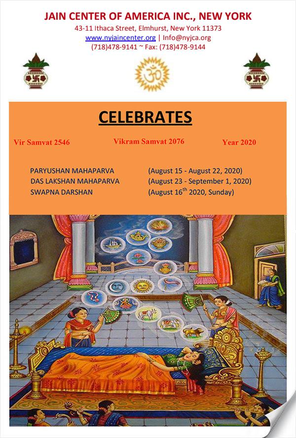 JCA NY 2020 Paryushan & Das Lakshana Maha Parv - Newsletter